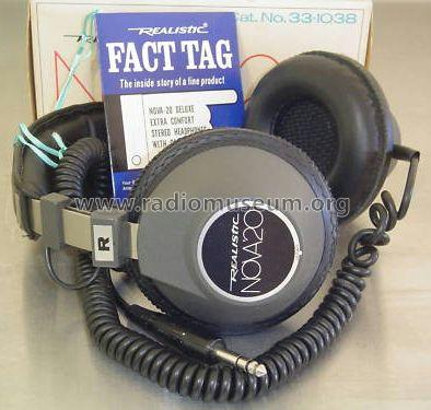 Realistic Nova 20 HiFi Stereo Headphone 33-1038; Radio Shack Tandy, (ID = 843625) Speaker-P