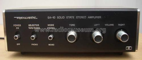 Realistic Solid State Stereo Amplifier SA-10 31-1982A; Radio Shack Tandy, (ID = 785743) Ampl/Mixer