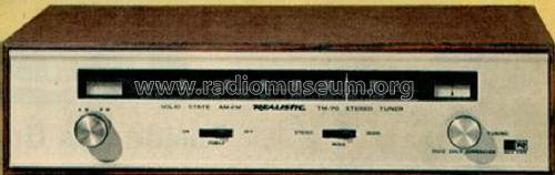 Realistic AM-FM Stereo Tuner TM-70 31-2015; Radio Shack Tandy, (ID = 1416231) Radio