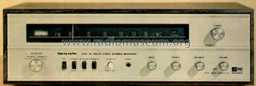 Solid State Stereo Receiver STA-45 31-2012; Radio Shack Tandy, (ID = 1393076) Radio