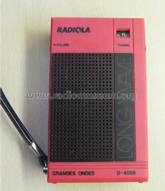 Long Wave D4028; Radiola marque (ID = 1067167) Radio