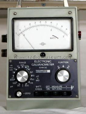 electronic galvanometer gvm30 equipment radiometer; copenhag