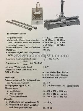 Dezimeter- Messleitung DML 112; Rafena Werke (ID = 2391458) Equipment