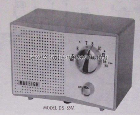 5 Tube AM Receiver DS-85M; Raleigh brand; where (ID = 2375295) Radio