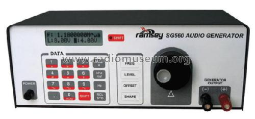 Audio Generator SG560; Ramsey Electronics (ID = 944598) Equipment