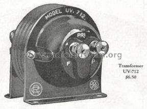 Tone Frequency Intervalve Amplifying Transformer UV-712; RCA RCA Victor Co. (ID = 979908) Radio part