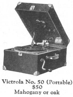 Victrola 50; RCA RCA Victor Co. (ID = 1800489) R-Player