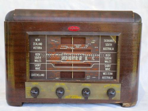 Sky-Raider Wood Mantel 5 valve DW; Reliance Radio. (ID = 2090584) Radio