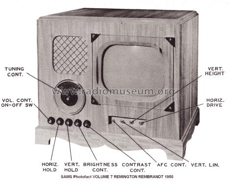 Radio 1950 1950 Remington Radio id