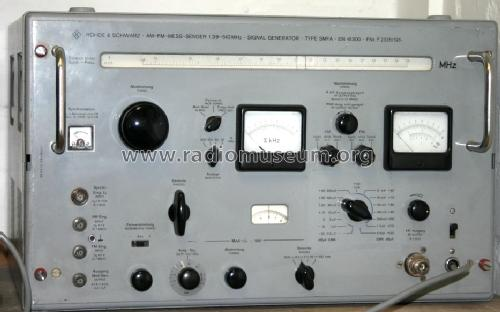 AM-FM-Mess-Sender SMFA ; Rohde & Schwarz, PTE (ID = 198244) Equipment