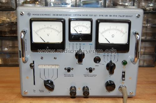 Diodenmessgerät - Crystal Diode Test Set IUD BN2510; Rohde & Schwarz, PTE (ID = 1461410) Equipment