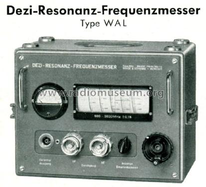 Dezi- Resonanz-Frequenzmesser WAL BN 4321; Rohde & Schwarz, PTE (ID = 1656266) Equipment
