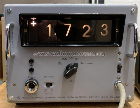 Ziffernvoltmeter - Digital Voltmeter UGZ BN1100; Rohde & Schwarz, PTE (ID = 2597854) Equipment