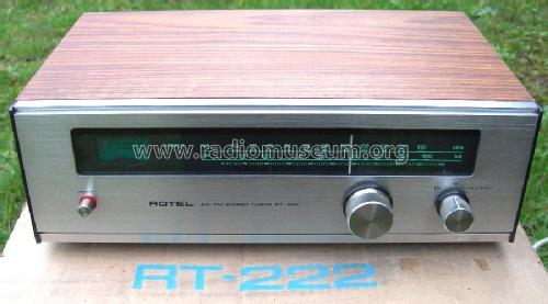 AM/FM Stereo Tuner RT-222; Rotel, The, Co., Ltd (ID = 276973) Radio