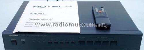 Digital Audio Processor RDP-980 Ampl/Mixer Rotel, The, Co ,