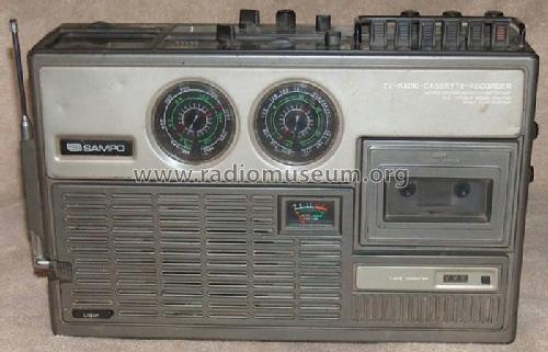 TV-Radio-Cassette-Recorder 8703 Ch= KRV-3B; Sampo Corporation of (ID = 826047) TV Radio