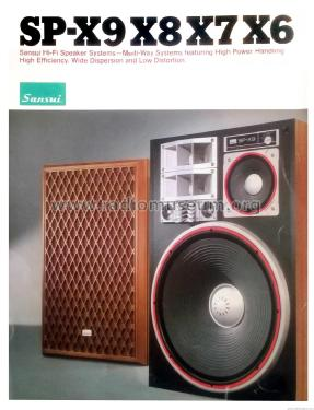 5 way 7 speaker system sp x9 speaker p sansui electric co rh radiomuseum org Sansui SP 7500X Speakers Specs Sansui Speakers