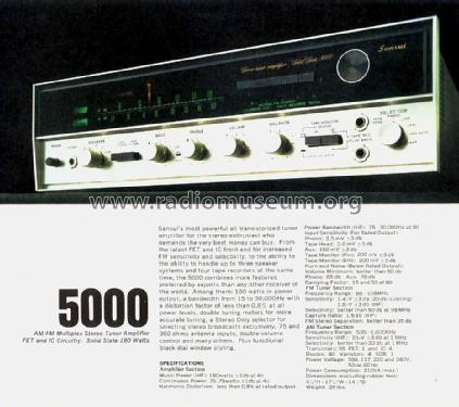 Stereo tuner amplifier Solid State 5000; Sansui Electric Co., (ID = 1737842) Radio