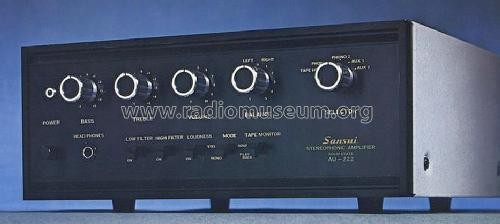 Stereophonic Amplifier AU-222; Sansui Electric Co., (ID = 673934) Ampl/Mixer