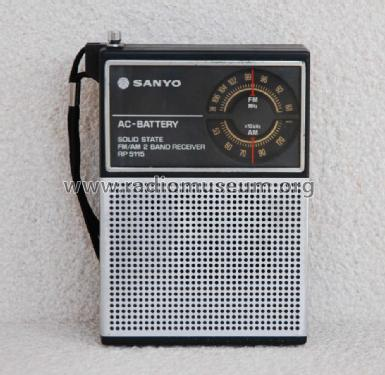 FM/AM 2 Band Receiver RP-5115; Sanyo Electric Co. (ID = 1355653) Radio