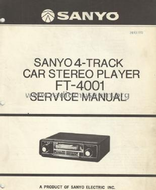 FT-4001A; Sanyo Electric Co. (ID = 2045535) Car Radio