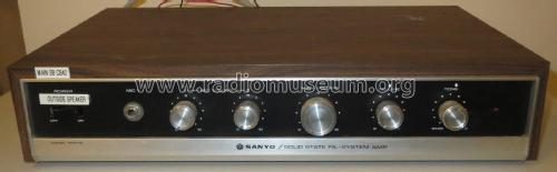 Solid State PA - System Amp PAM 15; Sanyo Electric Co. (ID = 2410271) Ampl/Mixer