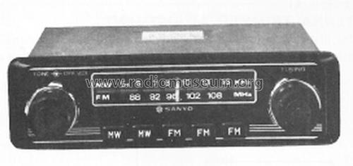 Solid State FM-AM Auto Radio F-8522A; Sanyo Electric Co. (ID = 2046081) Car Radio