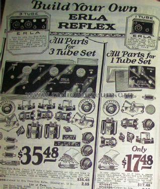 Erla 3 tube Reflex kit Supereflex Order= 57A 2676 and 2298; Sears, Roebuck & Co. (ID = 1256778) Kit