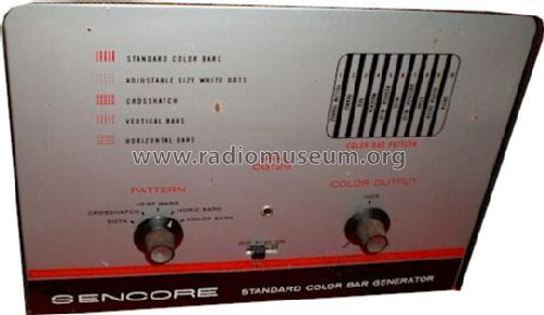 Color Bar Generator : Standard color bar generator cg equipment sencore sioux