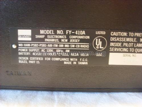 Worldwide Receiver FY-410A Radio Sharp