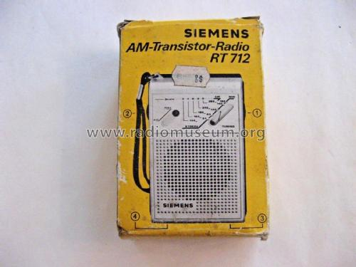AM-Transistor-Radio RT712; Siemens; D S.& (ID = 2326478) Radio