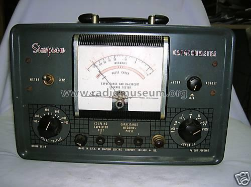 Capacohmeter - In-circuit Capacitor Equipment Simpson Electr | 500 x 374 jpeg 32kB