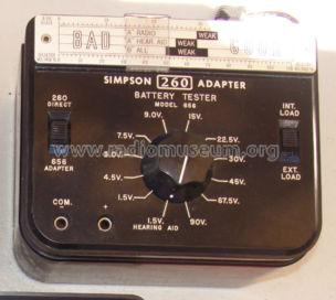 Battery Tester 260 Adapter 656; Simpson Electric Co. (ID = 1266762) Equipment