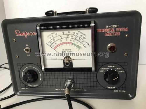 Horizontal System Analyzer - Capacity Meter 382; Simpson Electric Co. (ID = 2324861) Equipment