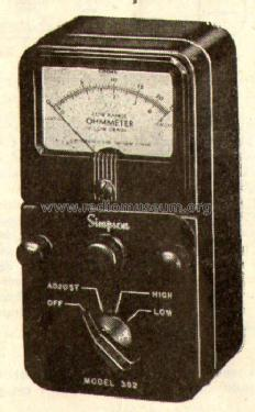 Low-Ohmmeter 362; Simpson Electric Co. (ID = 540059) Equipment