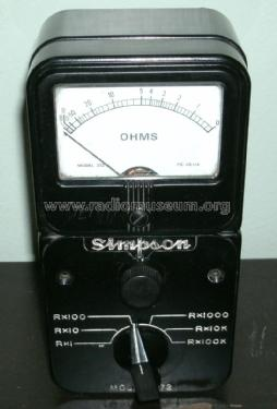 Ohmmeter 372; Simpson Electric Co. (ID = 1945289) Equipment