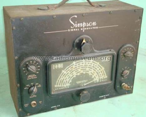 RF Signal Generator 415; Simpson Electric Co. (ID = 647972) Equipment