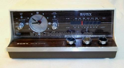 9 Transistor 2 Band Clock Radio 8FC-58W; Sony Corporation; (ID = 1411854) Radio
