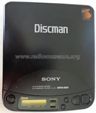 Discman D-121; Sony Corporation; (ID = 1747422) R-Player