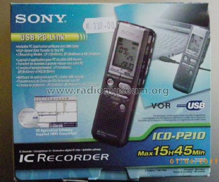 NEW DRIVERS: SONY IC RECORDER ICD P210