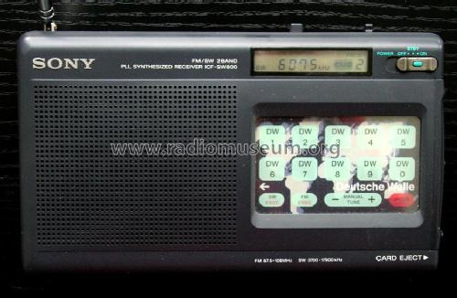 FM/SW 2 Band PLL Synthesized Receiver ICF-SW800; Sony Corporation; (ID = 89569) Radio