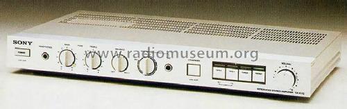 integrated stereo amplifier ta ax2 ampl mixer sony corporati rh radiomuseum org Sony Ta- H200 Sony TAM7