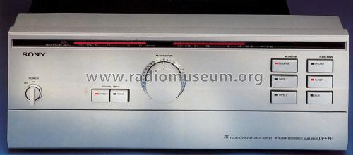 Pulse Locked Supply Integrated Stereo Amplifier TA-F80; Sony Corporation; (ID = 1322574) Ampl/Mixer
