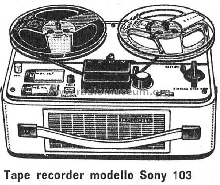 Tapecorder 103; Sony Corporation; (ID = 140891) Radio