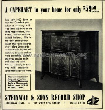 Capehart changers of unknown model name ; Steinway & Sons, New (ID = 1295896) Radio