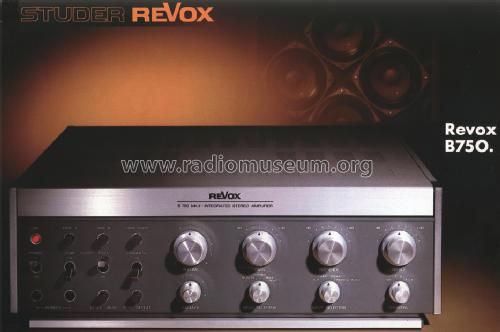 revox b750 ampl mixer studer gmbh willi revox l ffingen b. Black Bedroom Furniture Sets. Home Design Ideas