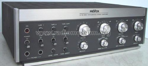 revox b750 mk ii ampl mixer studer gmbh willi revox l ffin. Black Bedroom Furniture Sets. Home Design Ideas