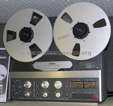 Revox B77 Mk I; Studer GmbH, Willi (ID = 2421017) R-Player