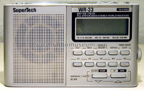 PLL Synthesized Stereo World Receiver WR-33; SuperTech (ID = 1500057) Radio