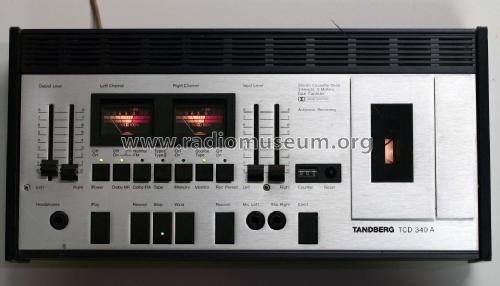 Stereo Cassette Deck TCD 340 A; Tandberg Radio; Oslo (ID = 2005114) R-Player
